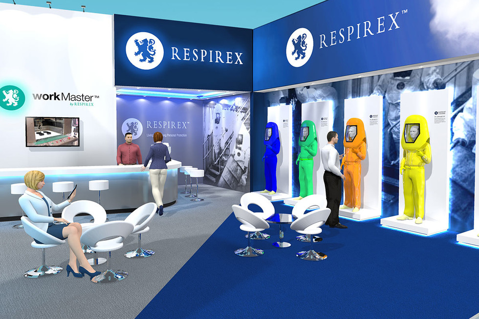Exhibition Stand Design with Product Displays Respirex