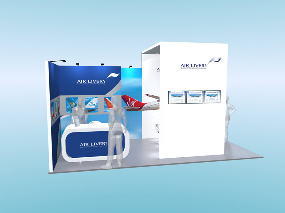 Aviation Sector Exhibition Stand Design Concept