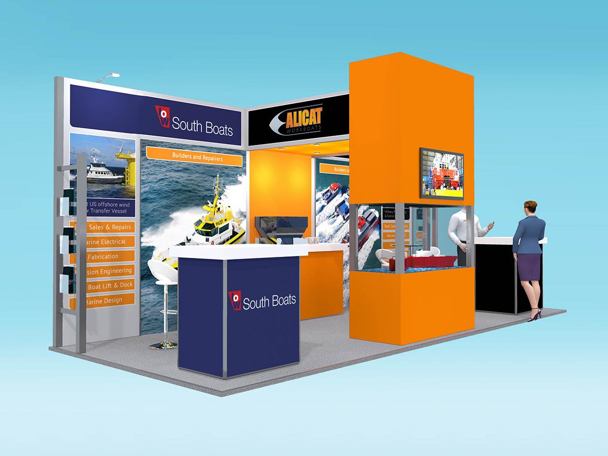 Custom Modular Exhibition Stand Design Alicat