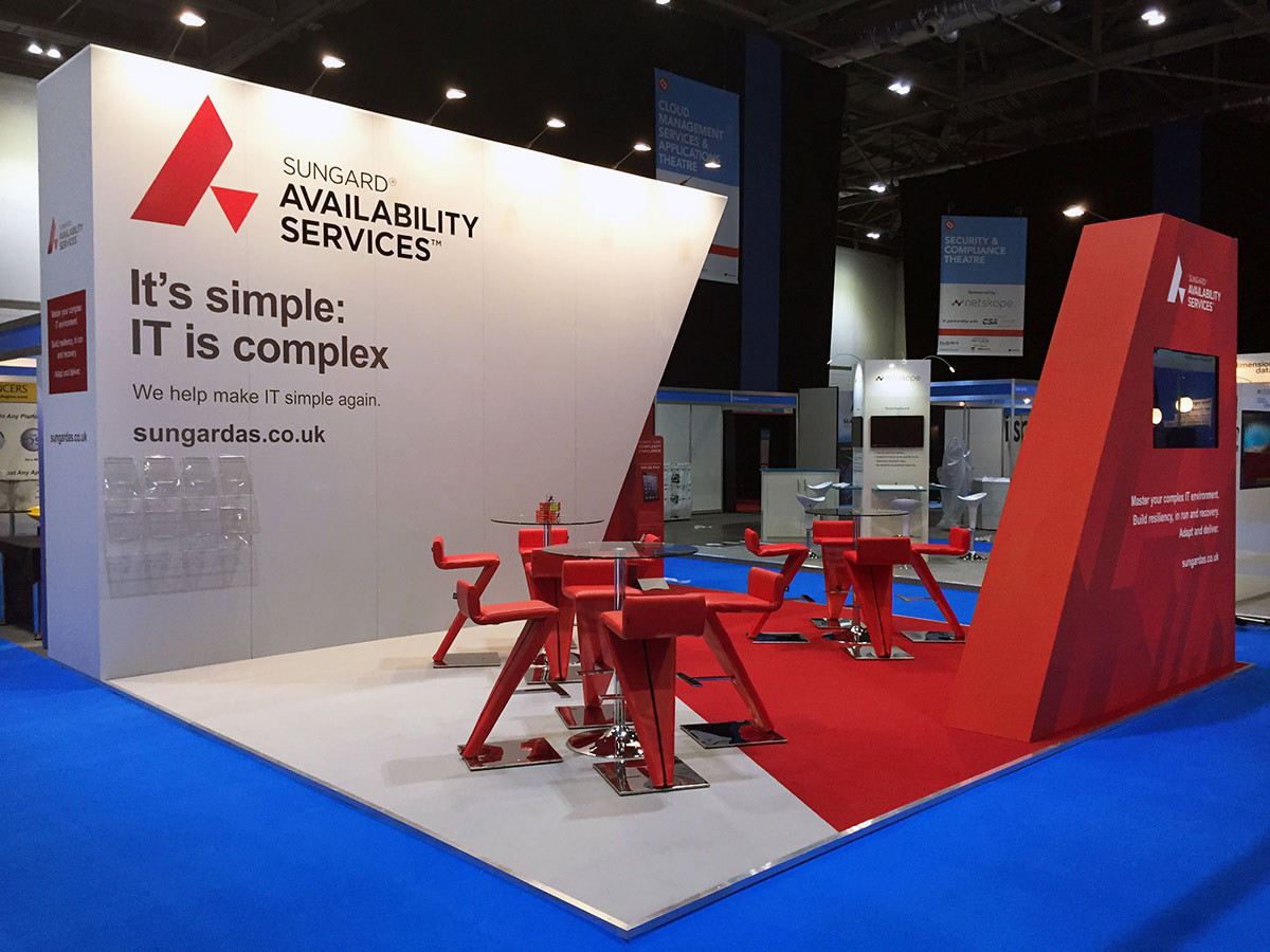 Sungard Logo Themed Exhibition Stand