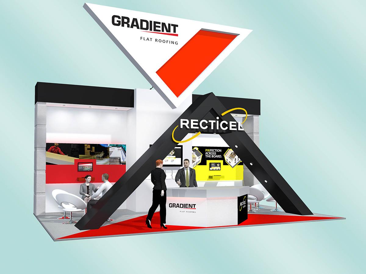 Architectural Exhibition Stand Design Gradient & Recticel