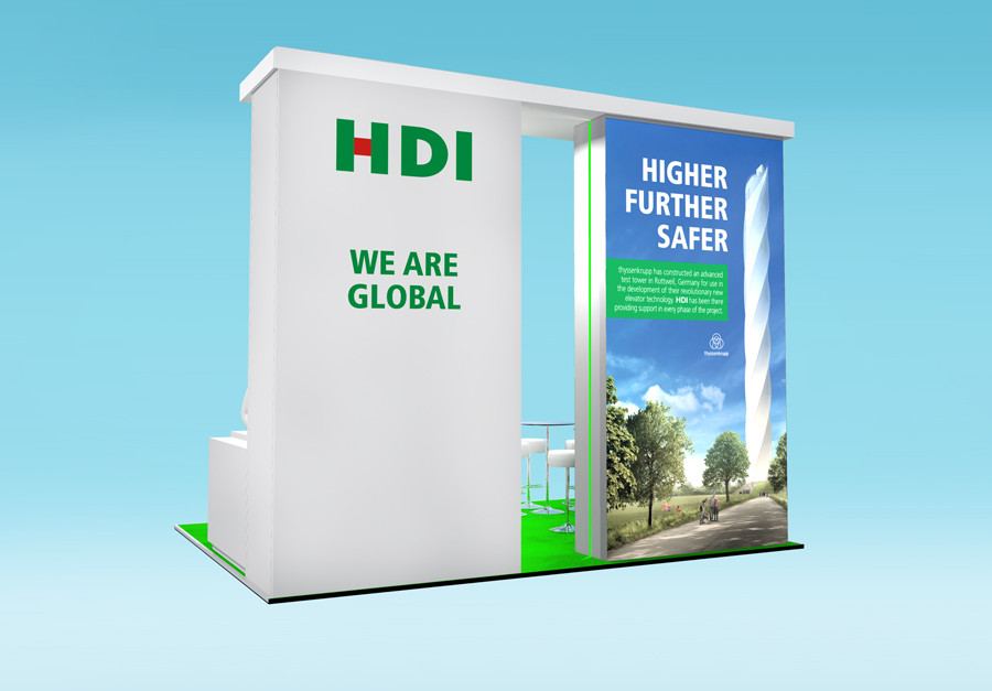 Exhibition Stand Design graphics HDI Airmic 2019