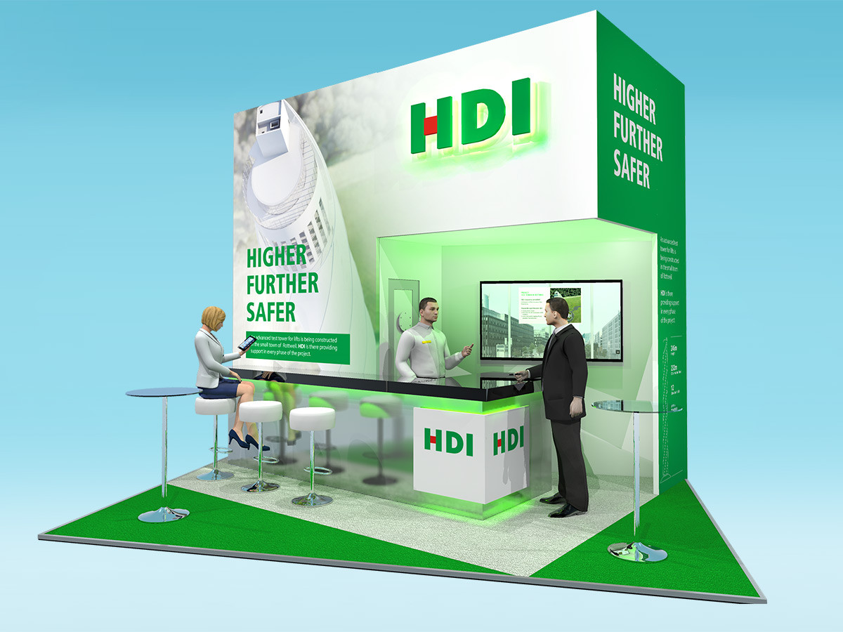 Exhibition Stand Design with Feature Graphics for HDI at Airmic 2018
