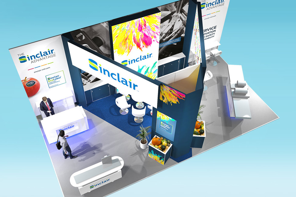 Overhead View of Sinclair Exhibition Stand Design Concept 2020