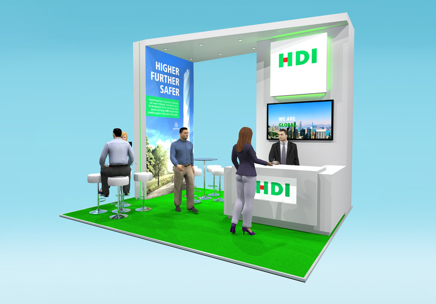 Exhibition Stand Design Concept HDI Airmic 2019