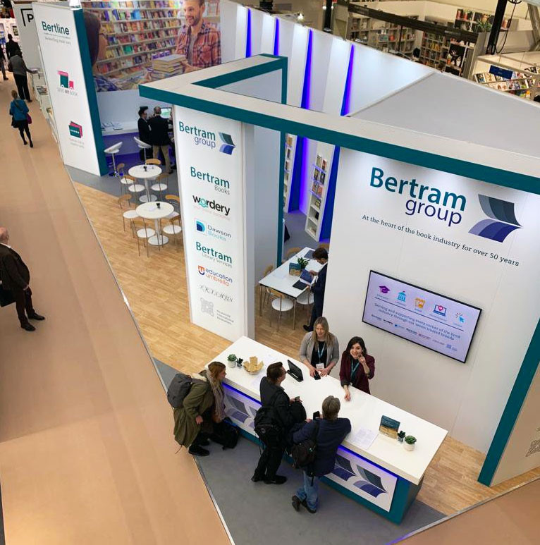 Custom Exhibition Stand Design and Build Bertram Group London Book Fair 2019