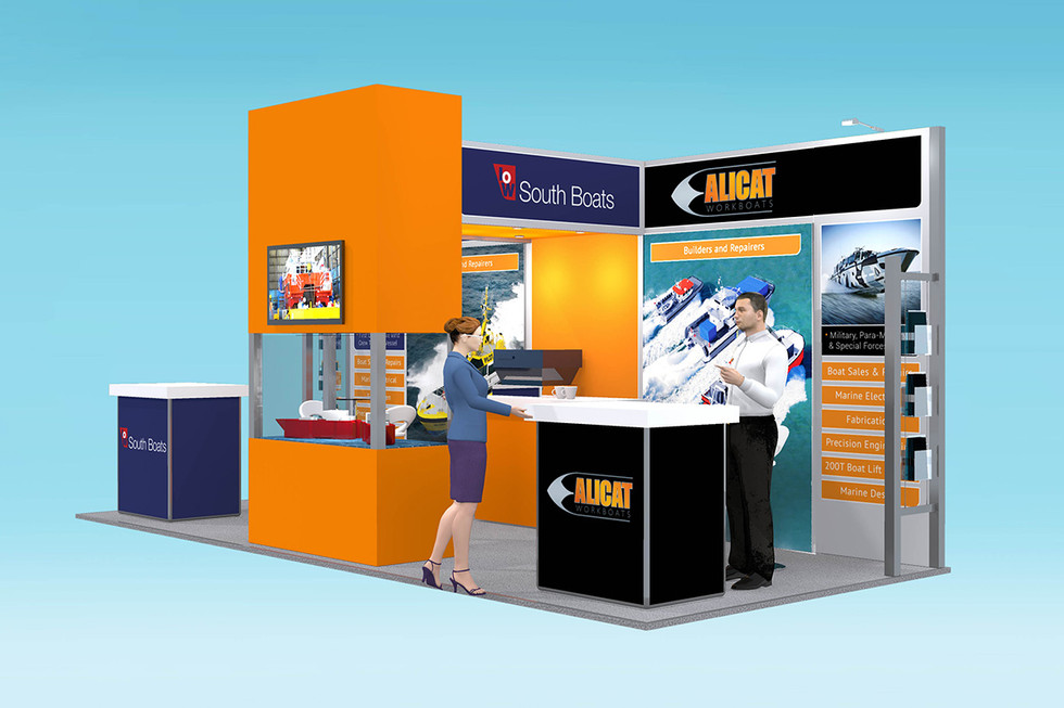 Exhibition Stand Design Concept Alicat Workboats