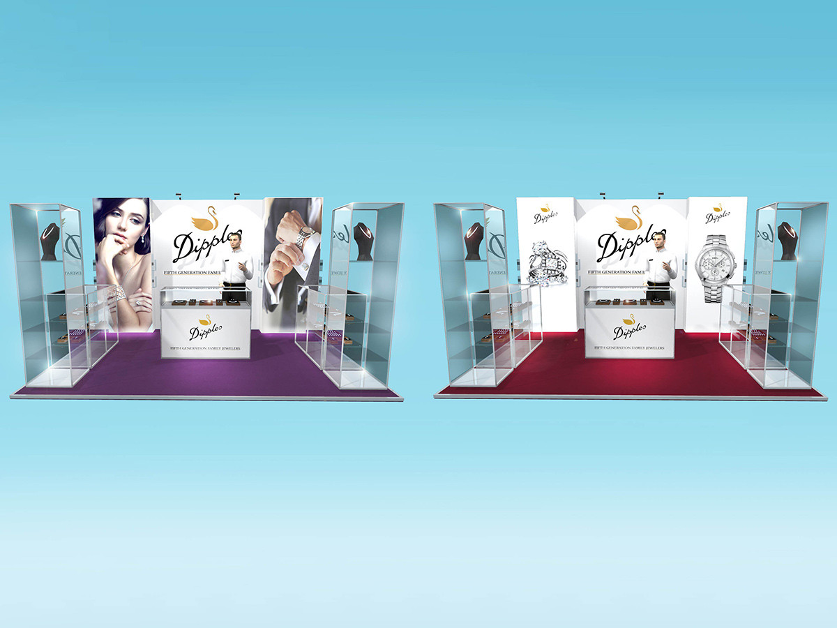 Dipples jewelers exhibition stand design concepts