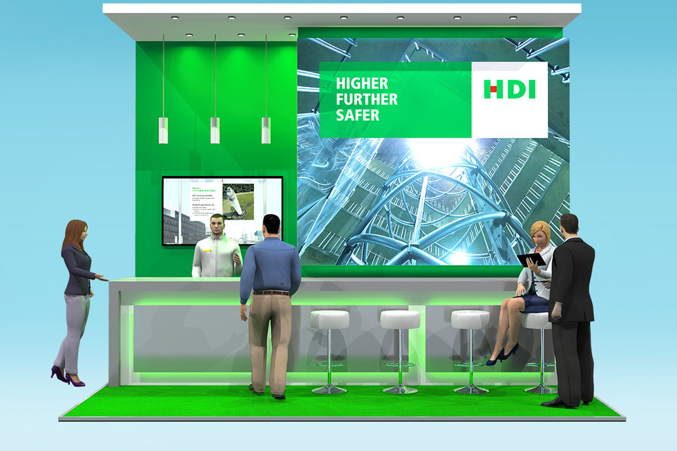 Exhibition Stand Designwith Custom Bar HDI at Airmic 2018