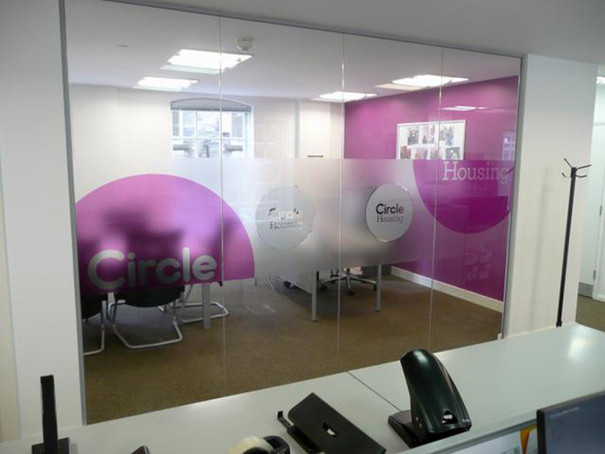 Interior Fit Out and Window Graphics for Circle Housing Norfolk
