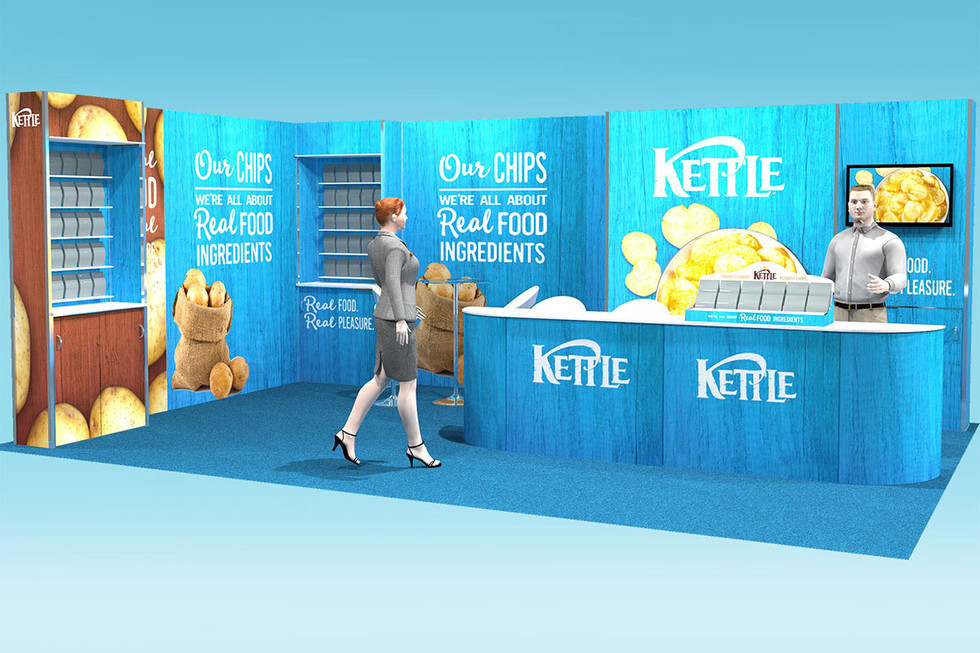 large modular exhibition stand design kettle foods