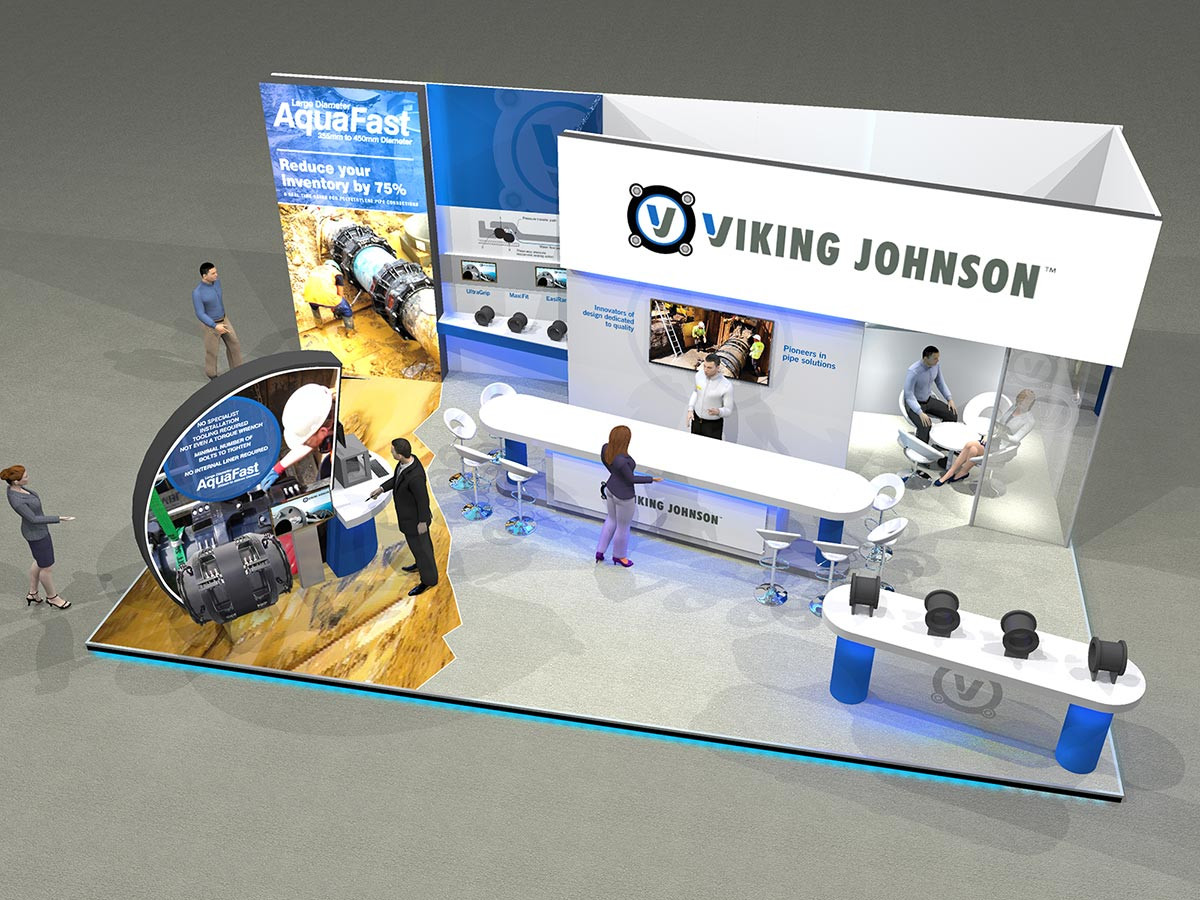 Large Exhibition Stand Design Concept Viking Johnson