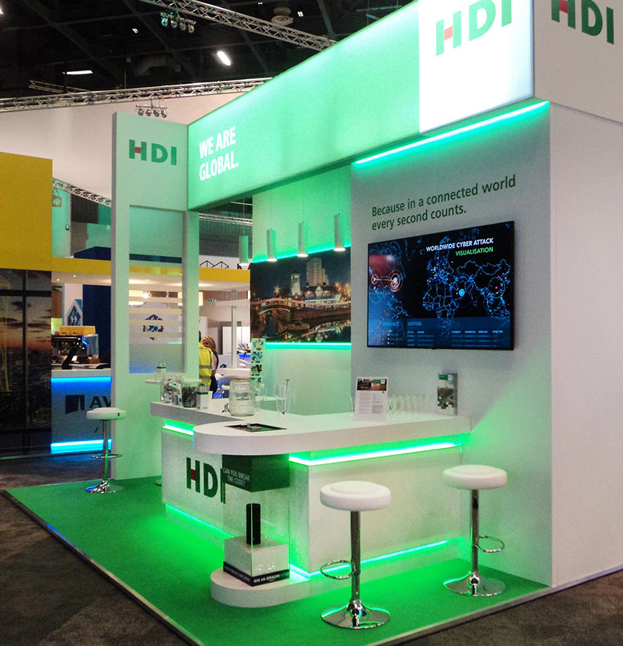 Custom Exhibition Stand HDI Airmic 2016