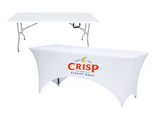 Folding Table with Branded Table Cover from Image Display & Graphics Norfolk