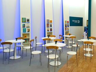 Custom Interior Seating Area Graphic Treatment and Displays Bertram Group