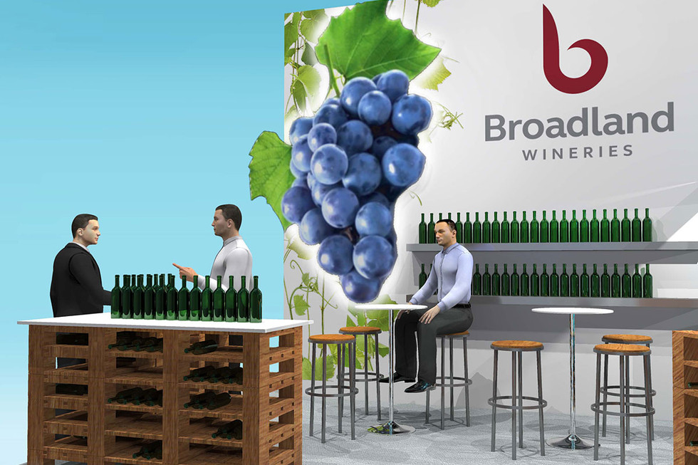 Custom Exhibition Stand Product Display Designs Broadland Wines