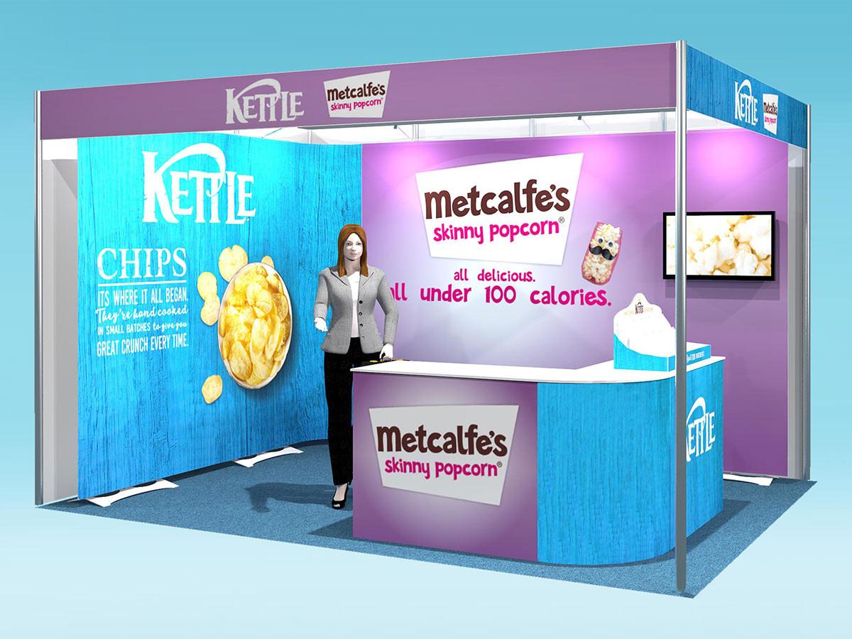 kettle foods split brand twist kit exhibition stand design