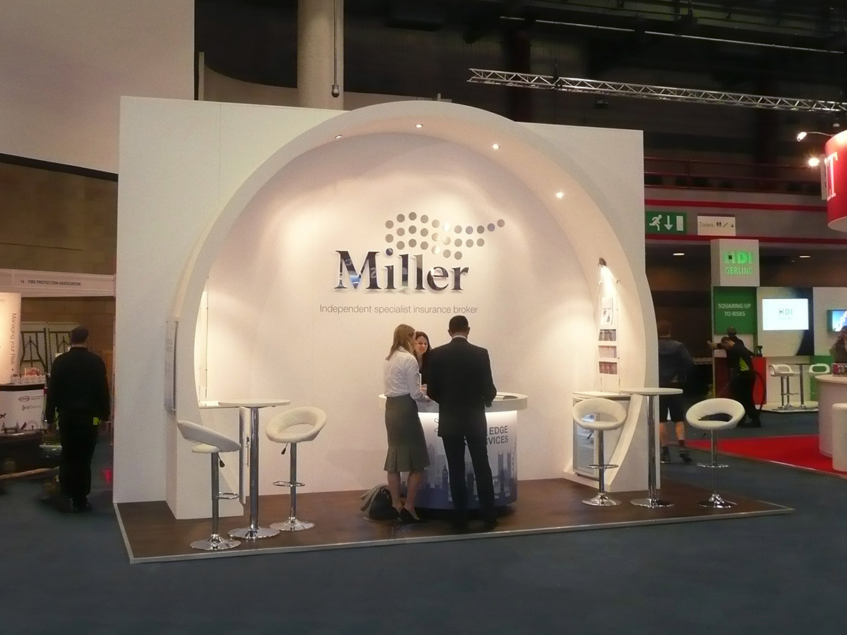 Exhibition Stand Design and Build Miller Insurance at Airmic
