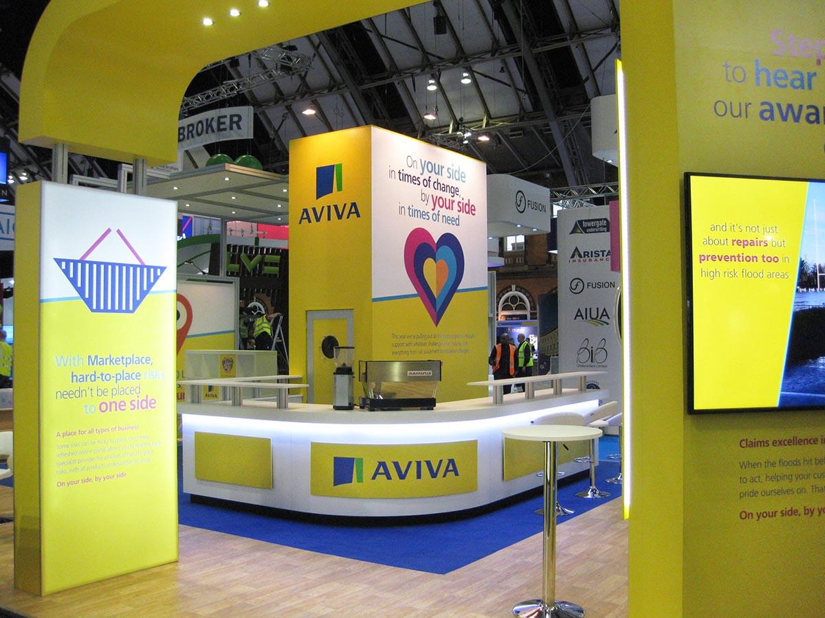 Custom Modular Exhibition Stand Arch Aviva BIBA