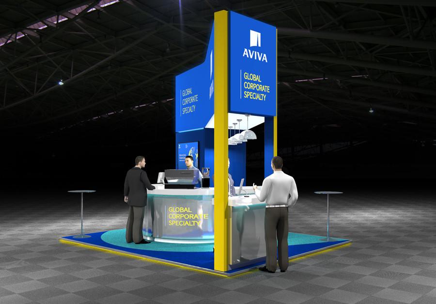 Modern Exhibition Stand Design Aviva at Airmic 2019