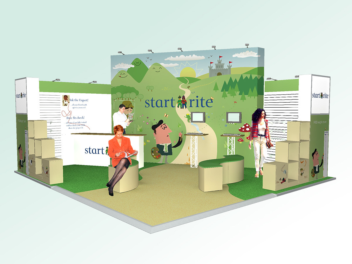 Exhibition Stand Design Concept Startrite Shoes