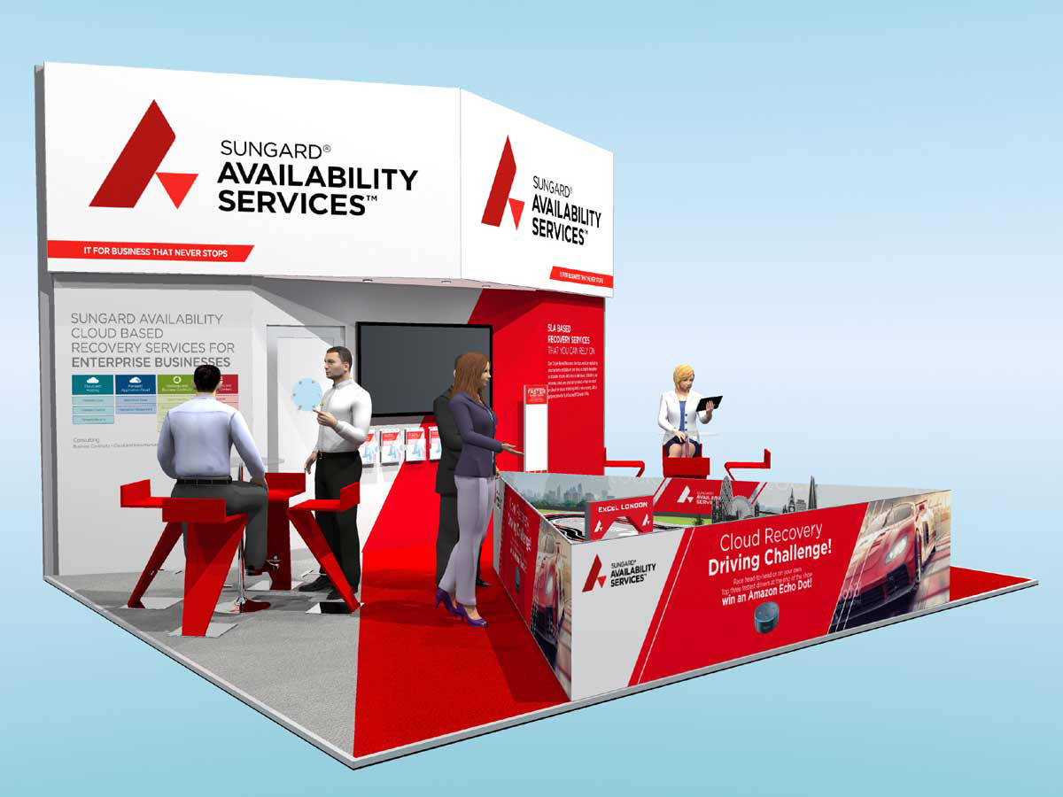 Custom Exhibition Stand Design Concept Sungard Cloud Expo 2018