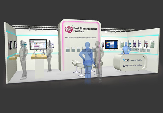 Exhibition Stand Design Concept with LED Effects