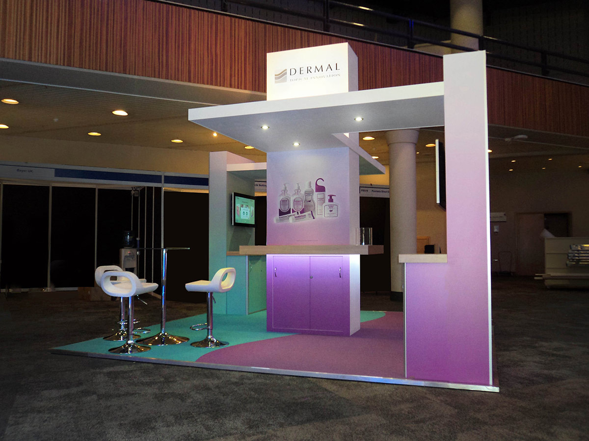 Custom Exhibition Stand Dermal at BAD event 2016