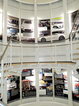 Custom Interior Stairwell Wall Graphics for Lotus Cars HQ in Norfolk
