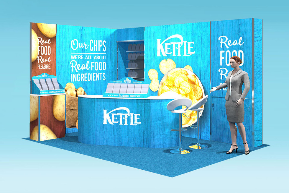 kettle foods trade stand design concept