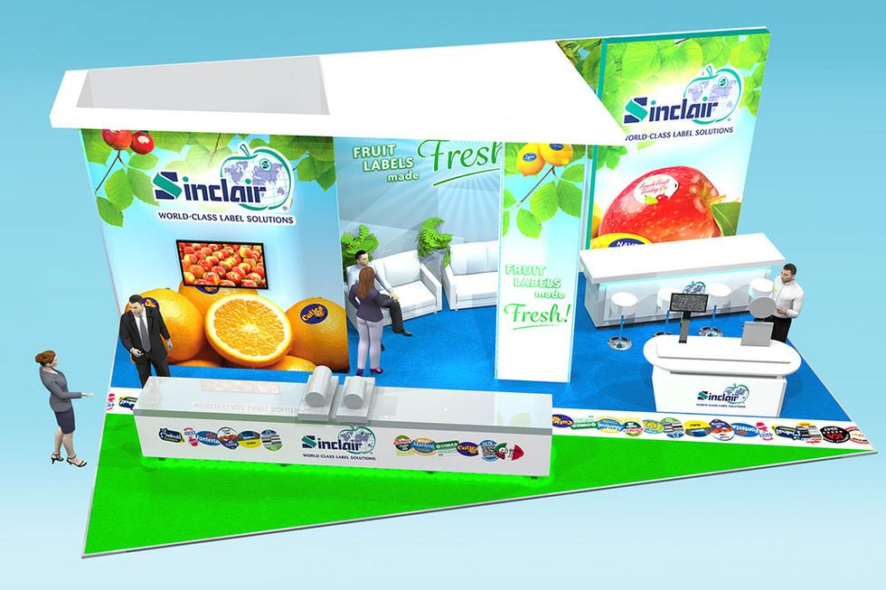 Fruit Logistica Exhibition Stand Design for Sinclair