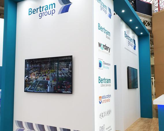 Custom Exhibition Stand Digital Displays Bertram Group LBF19