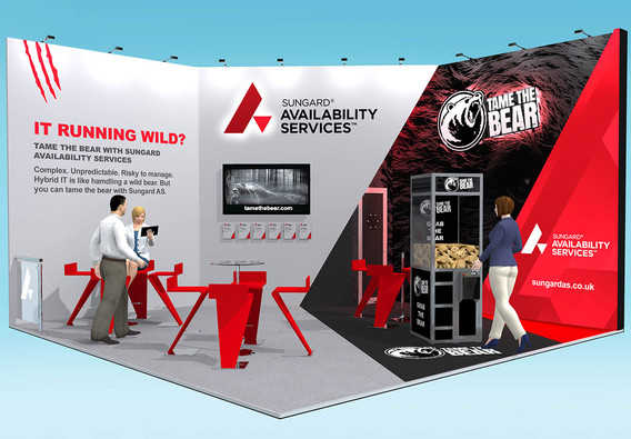 Tame the Bear Exhibition Stand Design Concept