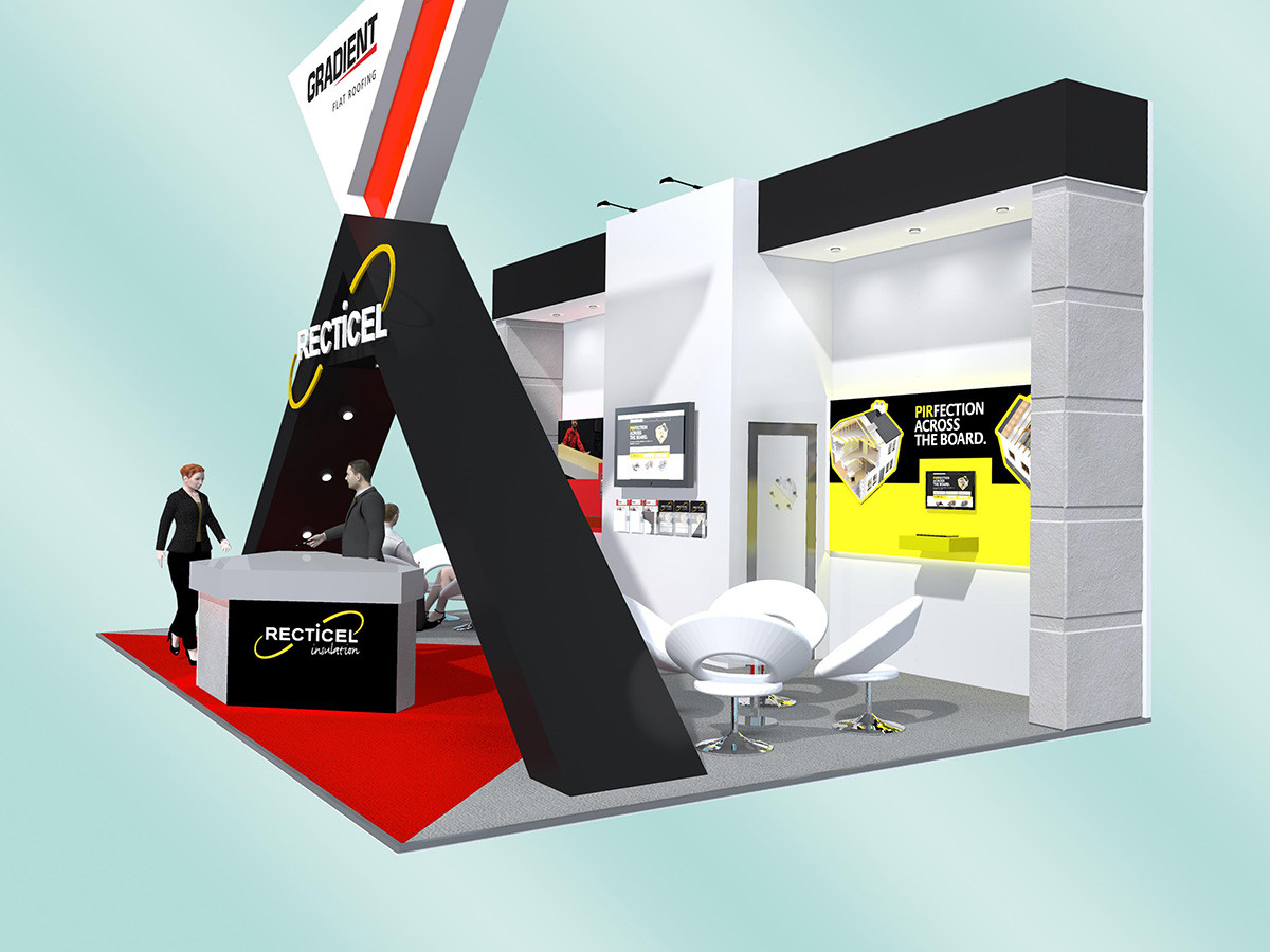 Custom Exhibition Stand Design Gradient and Recticel