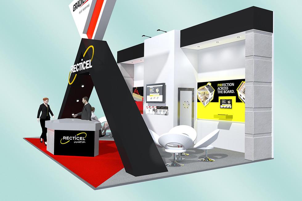 Custom Exhibition Stand Design Gradient and Recticel
