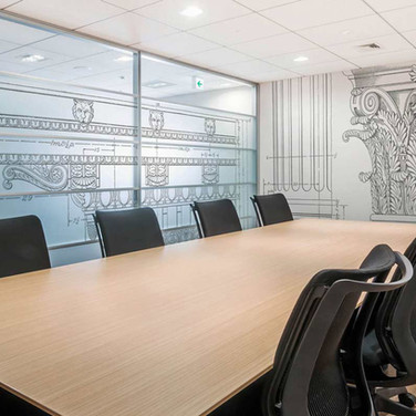 Architect's Boardroom Interior Wall and Window Graphics