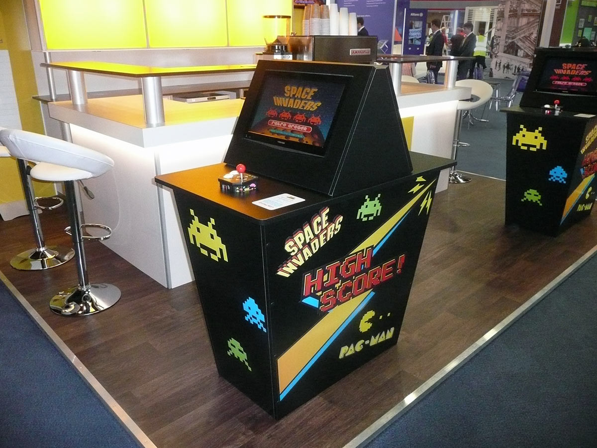 Retro Arcade Video Game Interaction for Aviva