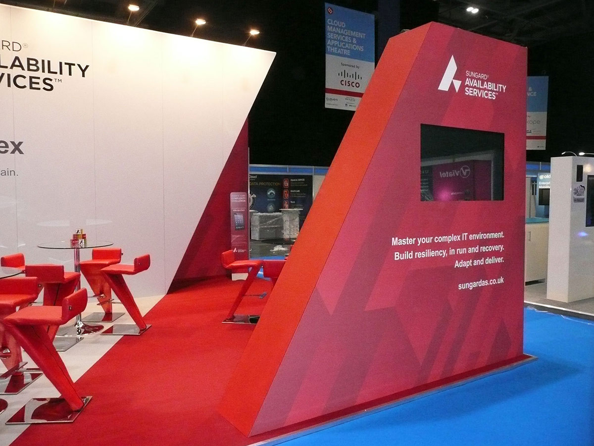 Split Effect Custom Exhibition Stand Design and Build Sungard