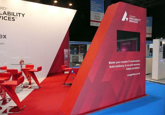 Split Effect Custom Exhibition Stand Design and Build Sungard