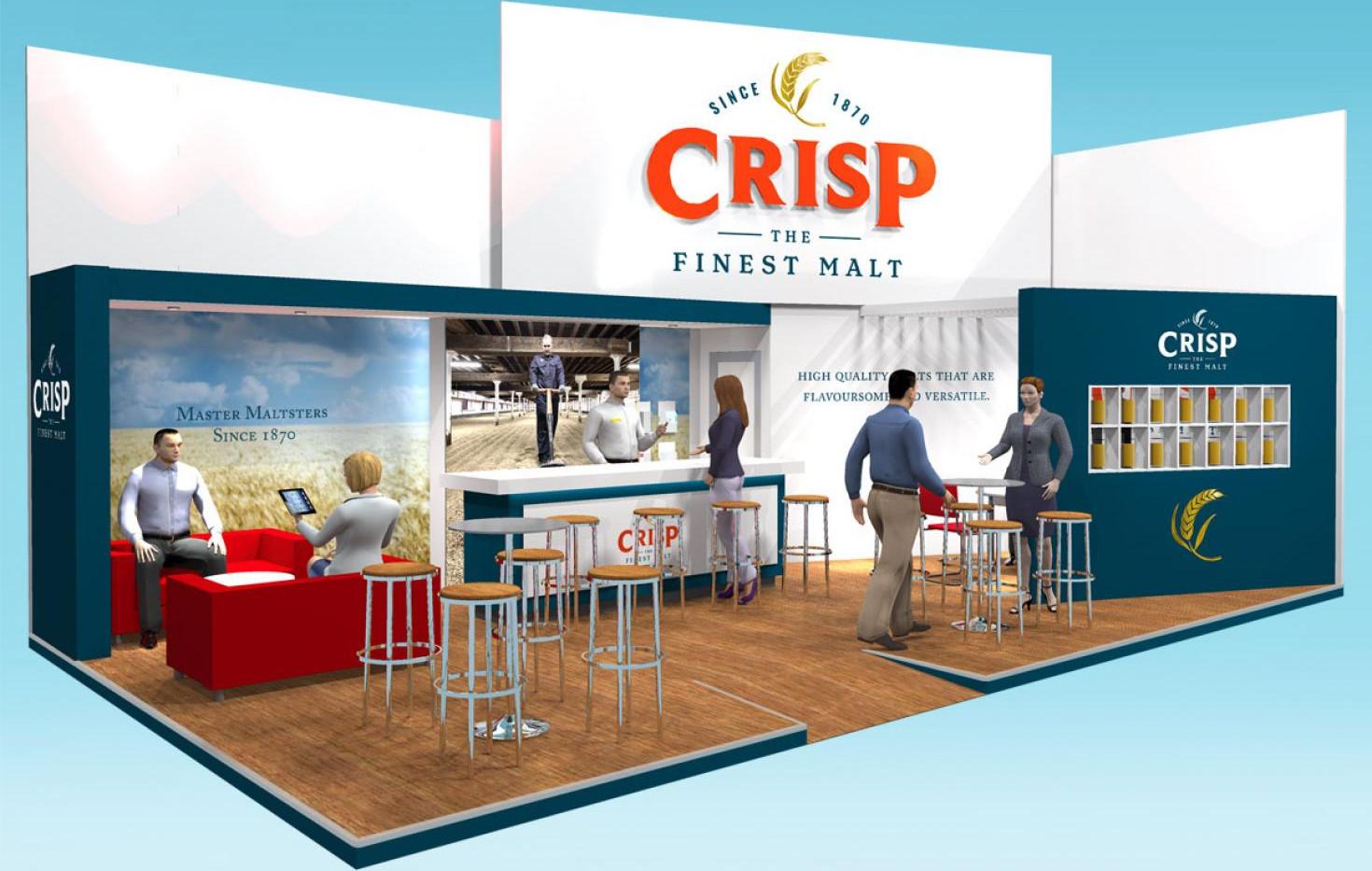 Exhibition Stand Design Concept Crisp Brau Beviale 2019