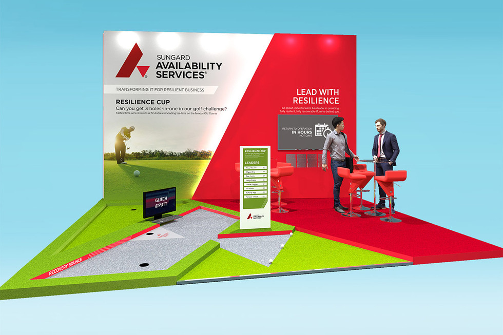 Exhibition Stand Design with Mini Golf Sungard at BCI World
