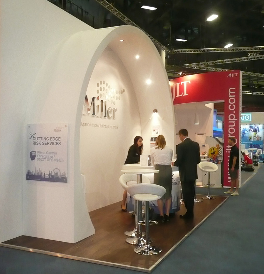 Miller Insurance Custom Exhibition Stand
