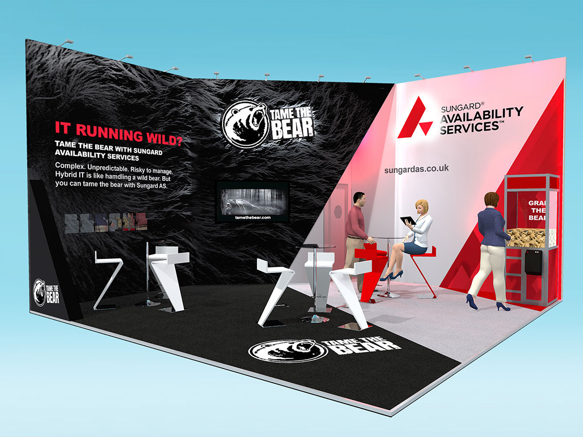 Sungard Tame the Bear Exhibition Stand Design