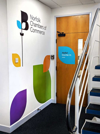 Norfolk Chambers Offiec Entry Way Wall Graphics