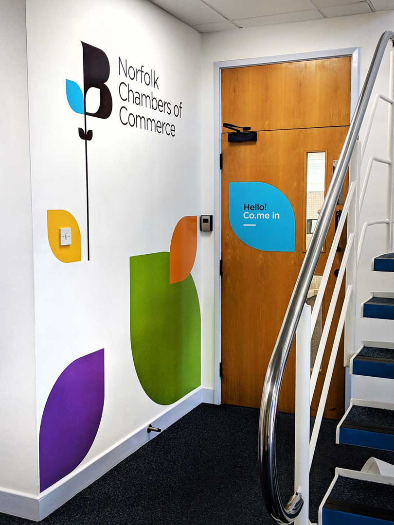 Office Interior Graphics for Norfolk Chambers