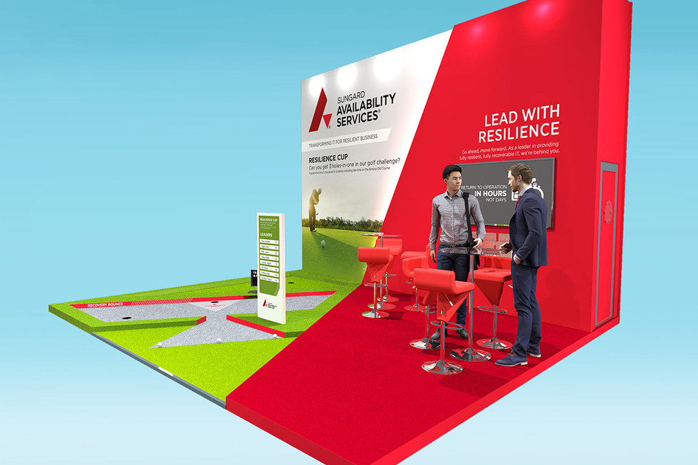 Modern Exhibition Stand Design for Sungard at BCI World 2019