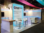 Custom Modular Exhibition Stand with LED Features - TSO
