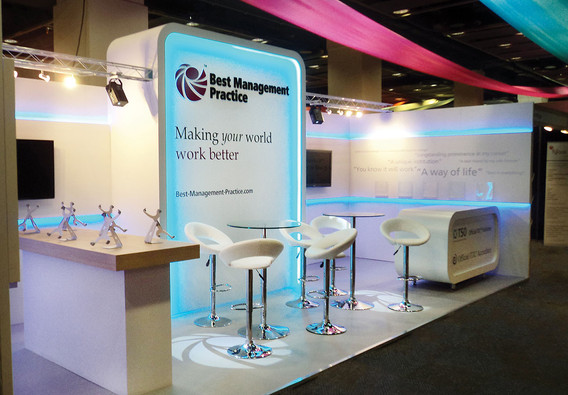LED Effects on Modualr Exhibition Stand TSO