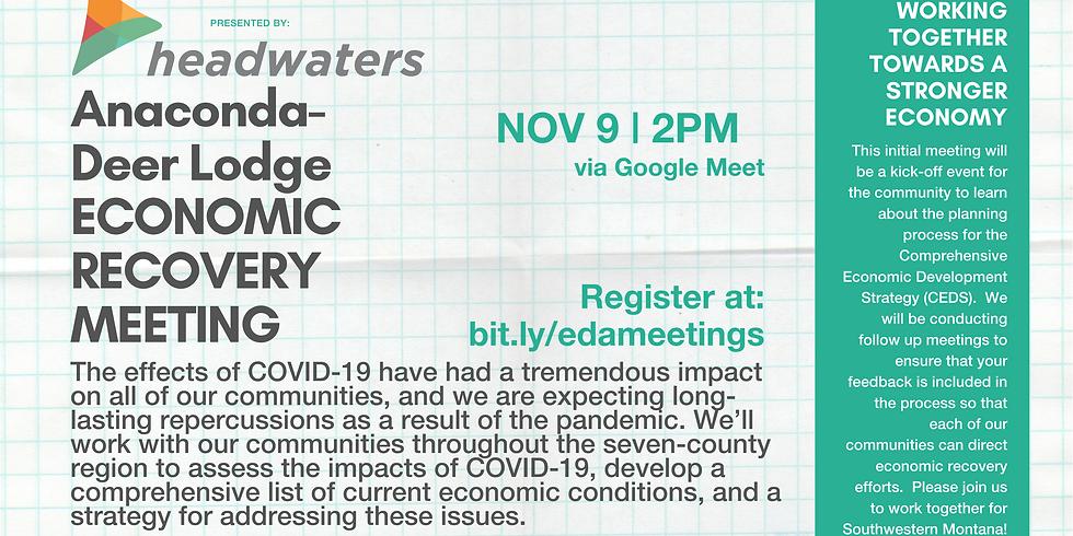 Anaconda-Deer Lodge Economic Recovery Meeting