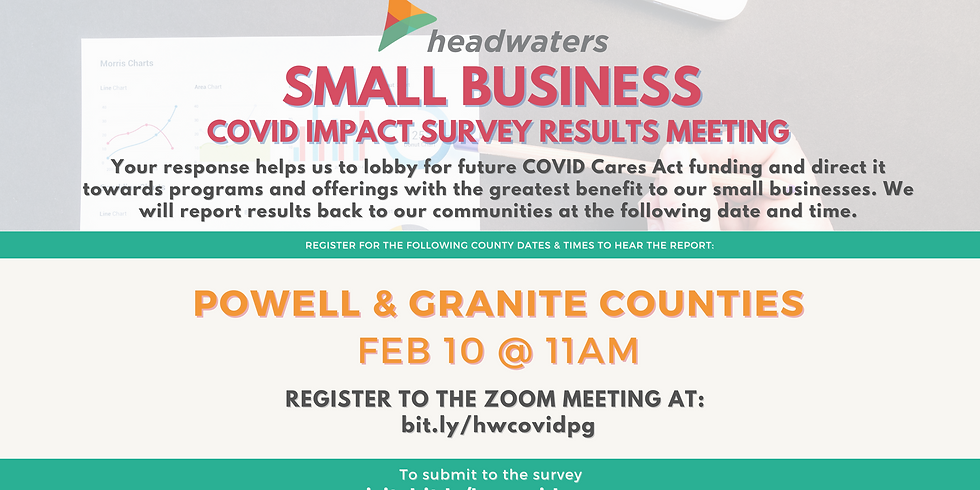 Powell & Granite Counties Small Business COVID Survey Results Meeting